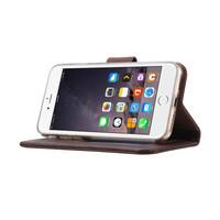 Echt lederen Bookcase Apple iPhone 8 hoesje - Bruin (100% Echt leren hoesje)
