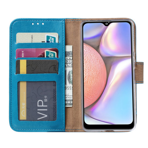 Bookcase Samsung Galaxy A10S hoesje - Blauw