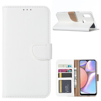 Bookcase Samsung Galaxy A10S hoesje - Wit