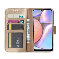 Bookcase Samsung Galaxy A10S hoesje - Goud