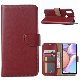 Bookcase Samsung Galaxy A10S hoesje - Bordeauxrood