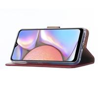 Bookcase Samsung Galaxy A10S hoesje - Bordeauxrood
