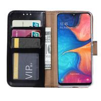 Bookcase Samsung Galaxy A20S hoesje - Zwart