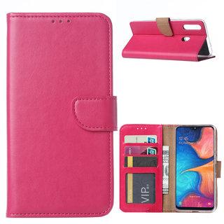 Bookcase Samsung Galaxy A20S hoesje - Roze