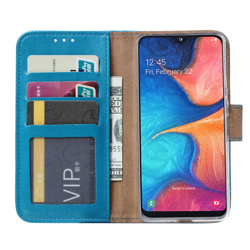 Bookcase Samsung Galaxy A20S hoesje - Blauw