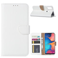 Bookcase Samsung Galaxy A20S hoesje - Wit