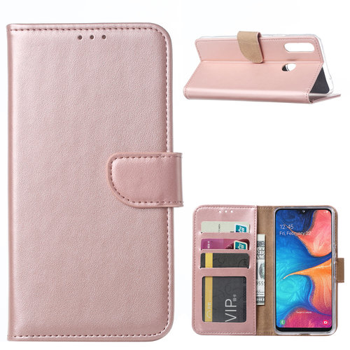 Bookcase Samsung Galaxy A20S hoesje - Rosé Goud