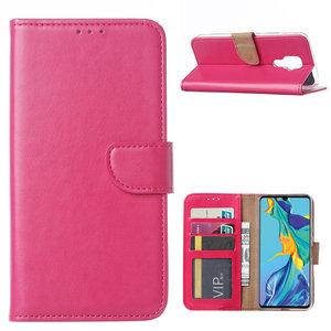 Bookcase Huawei Mate 30 Lite hoesje - Roze