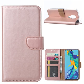 Bookcase Huawei Mate 30 Lite hoesje - Rosé Goud