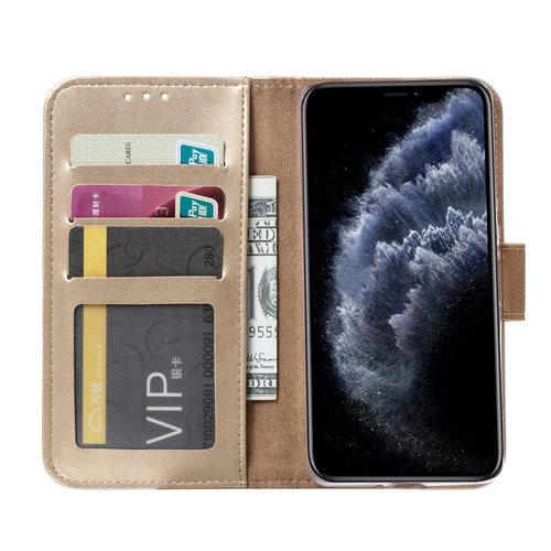 Bookcase Apple iPhone 11 Pro Max hoesje - Goud