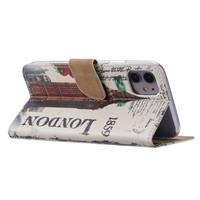 Parijs print lederen Bookcase hoesje voor de Apple iPhone 11 - Wit
