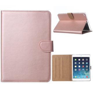 Luxe Lederen Standaard hoes voor de Apple iPad mini 5 (2019) 7.9 inch - Rosé Goud