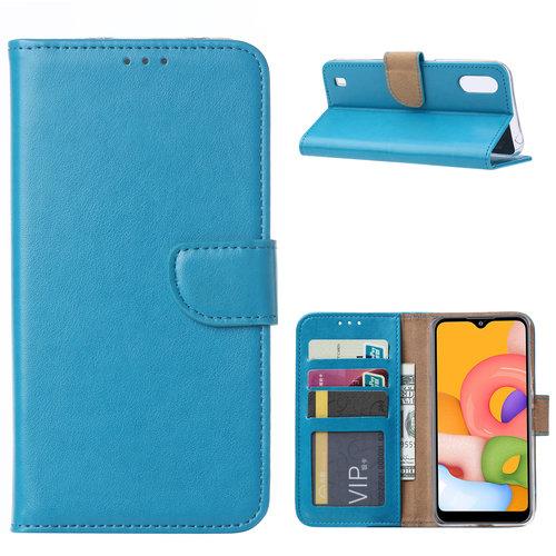 Bookcase Samsung Galaxy A01 hoesje - Blauw