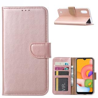 Bookcase Samsung Galaxy A01 hoesje - Rosé Goud