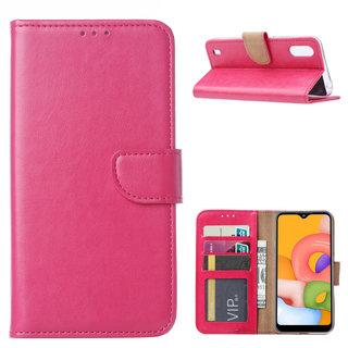 Bookcase Samsung Galaxy A01 hoesje - Roze
