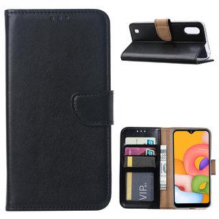 Bookcase Samsung Galaxy A01 hoesje - Zwart