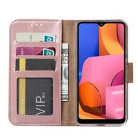 Bookcase Samsung Galaxy A21 hoesje - Rosé Goud