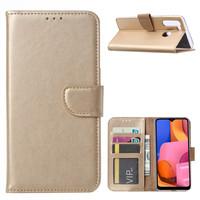Bookcase Samsung Galaxy A21 hoesje - Goud