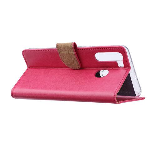 Bookcase Samsung Galaxy A21 hoesje - Roze