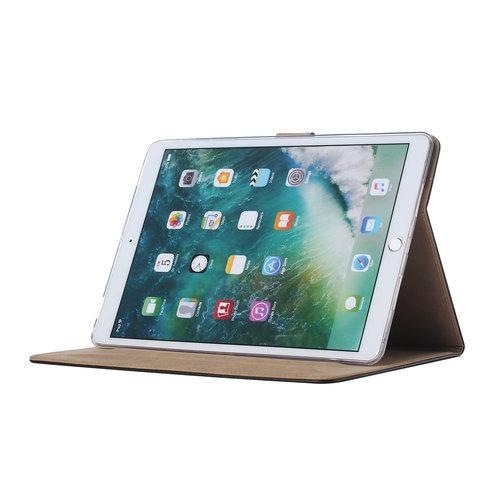 Luxe Lederen Standaard hoes voor de Apple iPad Air (2019) 10.5 inch - Zwart