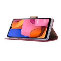 Bookcase Samsung Galaxy A21 hoesje - Bordeauxrood