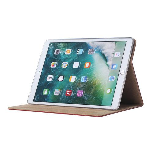 Luxe Lederen Standaard hoes voor de Apple iPad Air (2019) 10.5 inch - Bordeauxrood