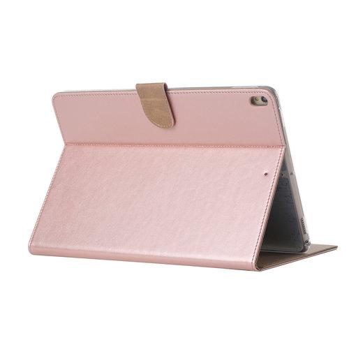 Luxe Lederen Standaard hoes voor de Apple iPad Air (2019) 10.5 inch - Rosé Goud
