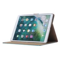 Luxe Lederen Standaard hoes voor de Apple iPad Air (2019) 10.5 inch - Blauw