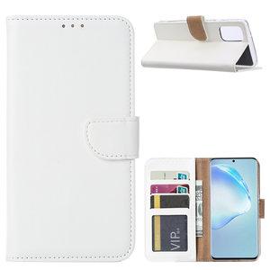 Bookcase Samsung Galaxy S20 Plus hoesje - Wit