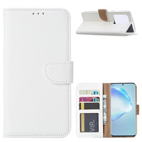 Bookcase Samsung Galaxy S20 Ultra hoesje - Wit