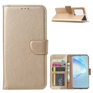Bookcase Samsung Galaxy S20 Ultra hoesje - Goud