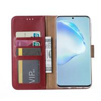 Bookcase Samsung Galaxy S20 hoesje - Bordeauxrood
