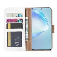 Bookcase Samsung Galaxy S20 hoesje - Wit