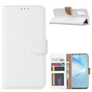 Bookcase Samsung Galaxy S20 hoesje - Wit
