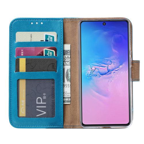 Bookcase Samsung Galaxy S10 Lite hoesje - Blauw