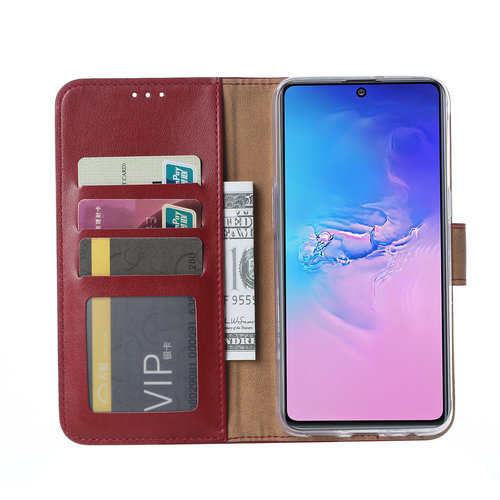 Bookcase Samsung Galaxy S10 Lite hoesje - Bordeauxrood