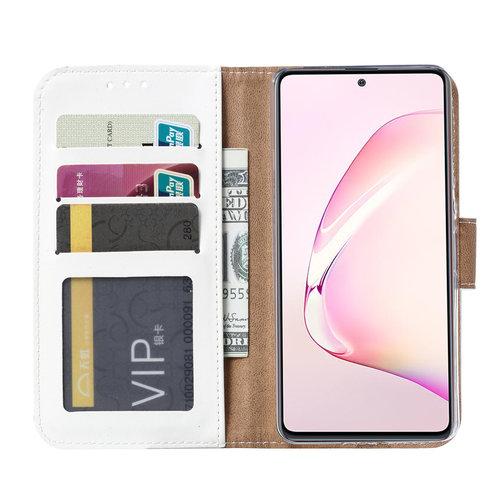 Bookcase Samsung Galaxy Note 10 Lite hoesje - Wit