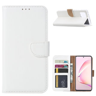 Bookcase Samsung Galaxy Note 10 Lite hoesje - Wit