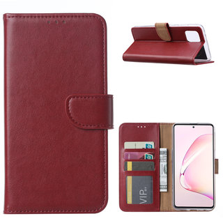 Bookcase Samsung Galaxy Note 10 Lite hoesje - Bordeauxrood