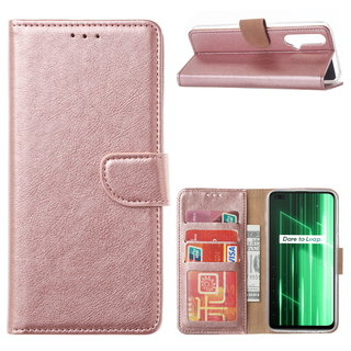 Bookcase Xiaomi Realme X50 5G hoesje - Rosé Goud