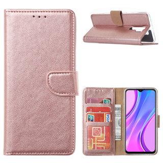 Bookcase Xiaomi Redmi 9 hoesje - Rosé Goud