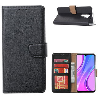 Bookcase Xiaomi Redmi 9 hoesje - Zwart