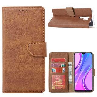 Bookcase Xiaomi Redmi 9 hoesje - Bruin