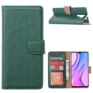 Bookcase Xiaomi Redmi 9 hoesje - Smaragdgroen