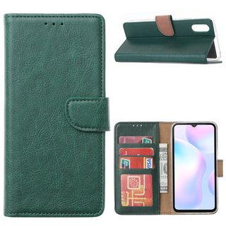 Bookcase Xiaomi Redmi 9A hoesje - Smaragdgroen