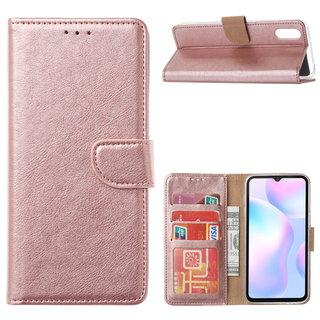 Bookcase Xiaomi Redmi 9A hoesje - Rosé Goud