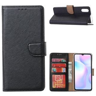 Bookcase Xiaomi Redmi 9A hoesje - Zwart