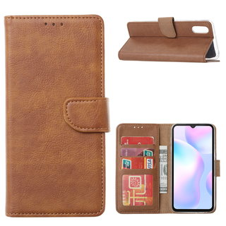 Bookcase Xiaomi Redmi 9A hoesje - Bruin
