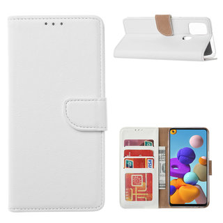 Bookcase Samsung Galaxy A21S hoesje - Wit