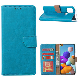 Bookcase Samsung Galaxy A21S hoesje - Blauw